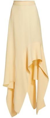 St. John Silk Georgette Handkerchief Midi Skirt
