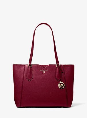 Michael Kors Mae Medium Pebbled Leather Tote Bag