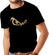 lepni.me N4053 T-shirt male Eyes gift ( Black Gold)