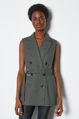 Monochrome Check Waistcoat