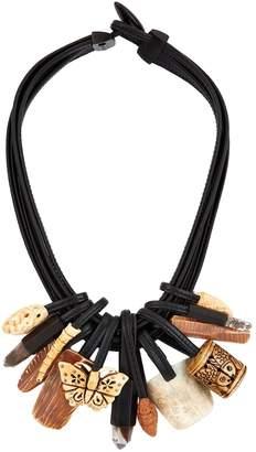 eskandar Multi-Strand Mixed Bead Necklace
