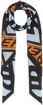 Burberry graphic logo scarf