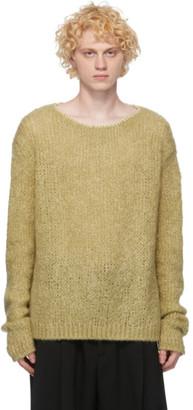 Jil Sander Yellow Wool Knit Sweater