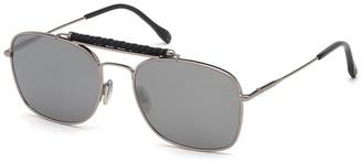 Tod's 56mm Aviator Sunglasses