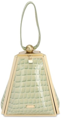 Cult Gaia TRINA CROC EMBOSSED LEATHER BAG
