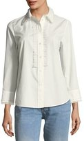 Marc Jacobs Button-Front Long-Sleeve Poplin Shirt with Pleats