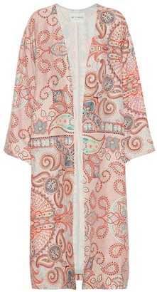 Etro Printed silk-crepe coat