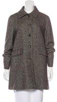 Loro Piana Herringbone Virgin Wool Coat