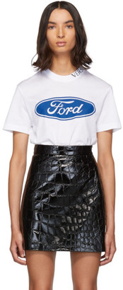 Versace White Ford Edition Logo T-Shirt