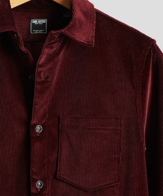 Todd Snyder Made in New York Corduroy Shirt Jacket in Burgundy