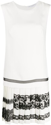 Ermanno Scervino Lace-Trim Sleeveless Dress