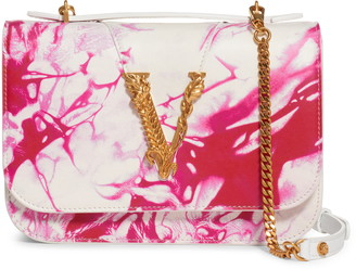 Versace First Line Verace First Line Virtus Tie Dye Leather Crossbody Bag