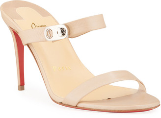 Christian Louboutin Lock Me 85mm Red Sole Stiletto Sandals