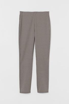 H&M Jacquard-patterned Leggings - Beige