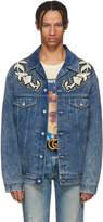 Gucci Blue Denim Marble Washed Jacket