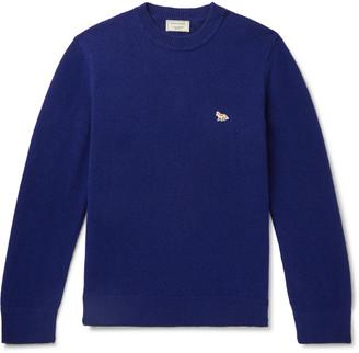 MAISON KITSUNÉ Logo-Appliqued Wool Sweater