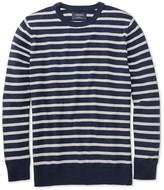 Charles Tyrwhitt Navy and Grey Blue Heather Crew Neck Cotton Sweater Size XXL