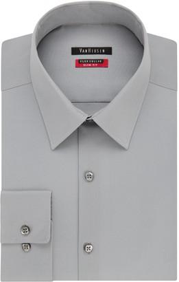 Van Heusen Mens Flex Collar Fitted Athletic Stretch Dress Shirt