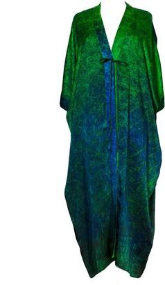 Carmen Molina Sea Lines Silk Cocoon Kaftan