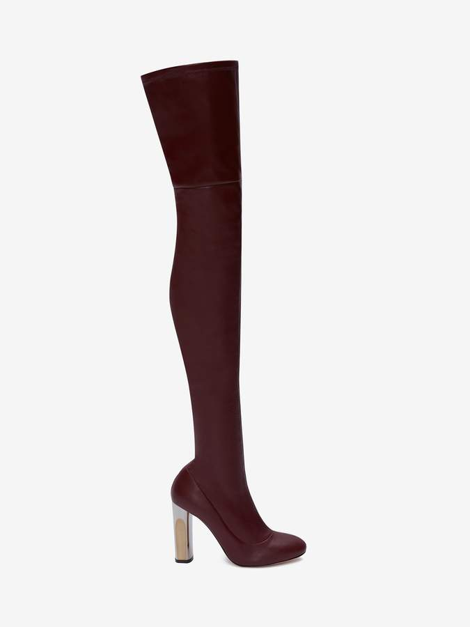 Alexander McQueen Sculpted Heel Over-The-Knee Boot