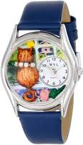 Whimsical Watches Women's S0120007 Aristo Cat Royal Blue Leather Watch