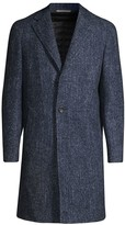 Canali Modern-Fit Wool & Silk-Blend Top Coat