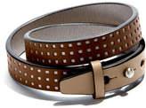 Double Wrap Bracelet Beige