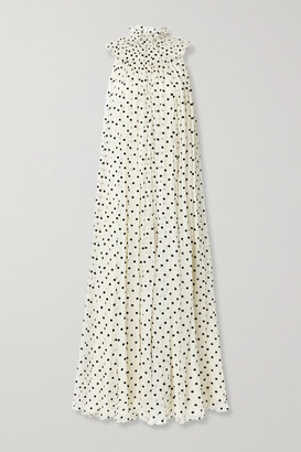 Adam Lippes Flocked Silk-blend Crepon Gown - Cream