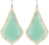 Kendra Scott Alexandra Large Glass Drop Earrings, Chalcedony/Golden