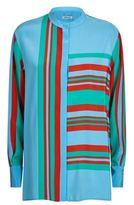 Diane von Furstenberg Borel Printed Silk Shirt