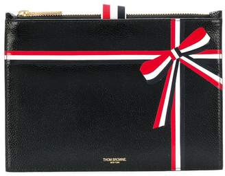 Thom Browne large ribbon-detail coin purse