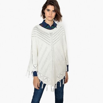 La Redoute Collections Fringed Pointelle Knit Poncho