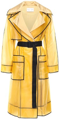 Proenza Schouler White Label Long Rain Coat W/ Belt