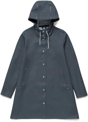 Stutterheim Charcoal Grey Womens Mosebacke Raincoat - S - Grey
