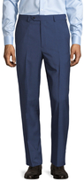 Brooks Brothers Wool Striped Flat Front Trousers
