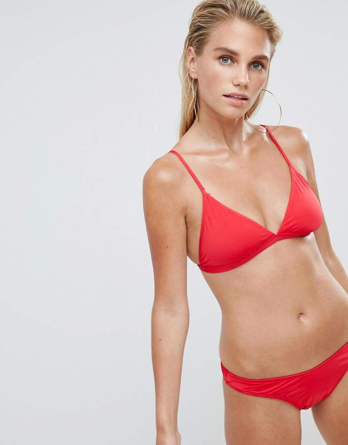 Seafolly Flashback Brazilian Brief In Red