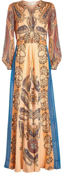 Etro Printed Silk Chiffon Dress