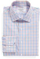 Lorenzo Uomo Men's Trim Fit Check Dress Shirt
