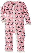 Kickee Pants Ruffled Coveralls (Baby) - Lotus Panda - 12-18 Months
