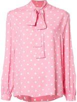 Saint Laurent polka dot lavaliere blouse