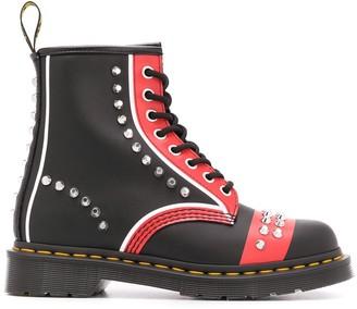 Dr. Martens Stud-Embellished Lace-Up Ankle Boots