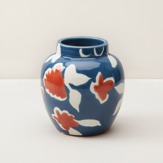 Oui Hand-Painted Flower Vase Small