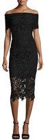 Shoshanna Madison Off-the-Shoulder Lace Sheath Dress