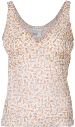 Chanel Pre Owned 2004 Floral Print Sleeveless Top