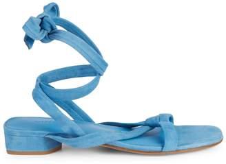Vince Bonham Suede Criss-Cross Ankle Wrap Sandals