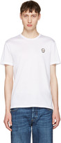 Alexander McQueen White Bullion Skull Patch T-shirt