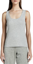 Joan Vass Scoop-Neck Cotton Tank, Plus Size