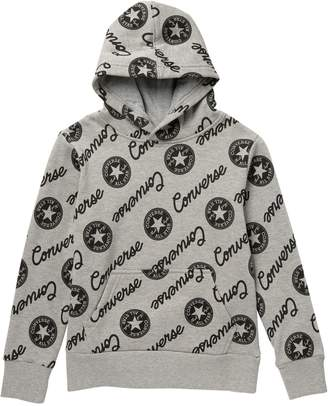 Converse Script Allover Print Hoodie (Big Boys)