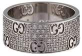 Gucci 18K Icon Stardust Wide Diamond Ring