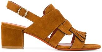 Santoni Fringed Trim 60mm Sandals